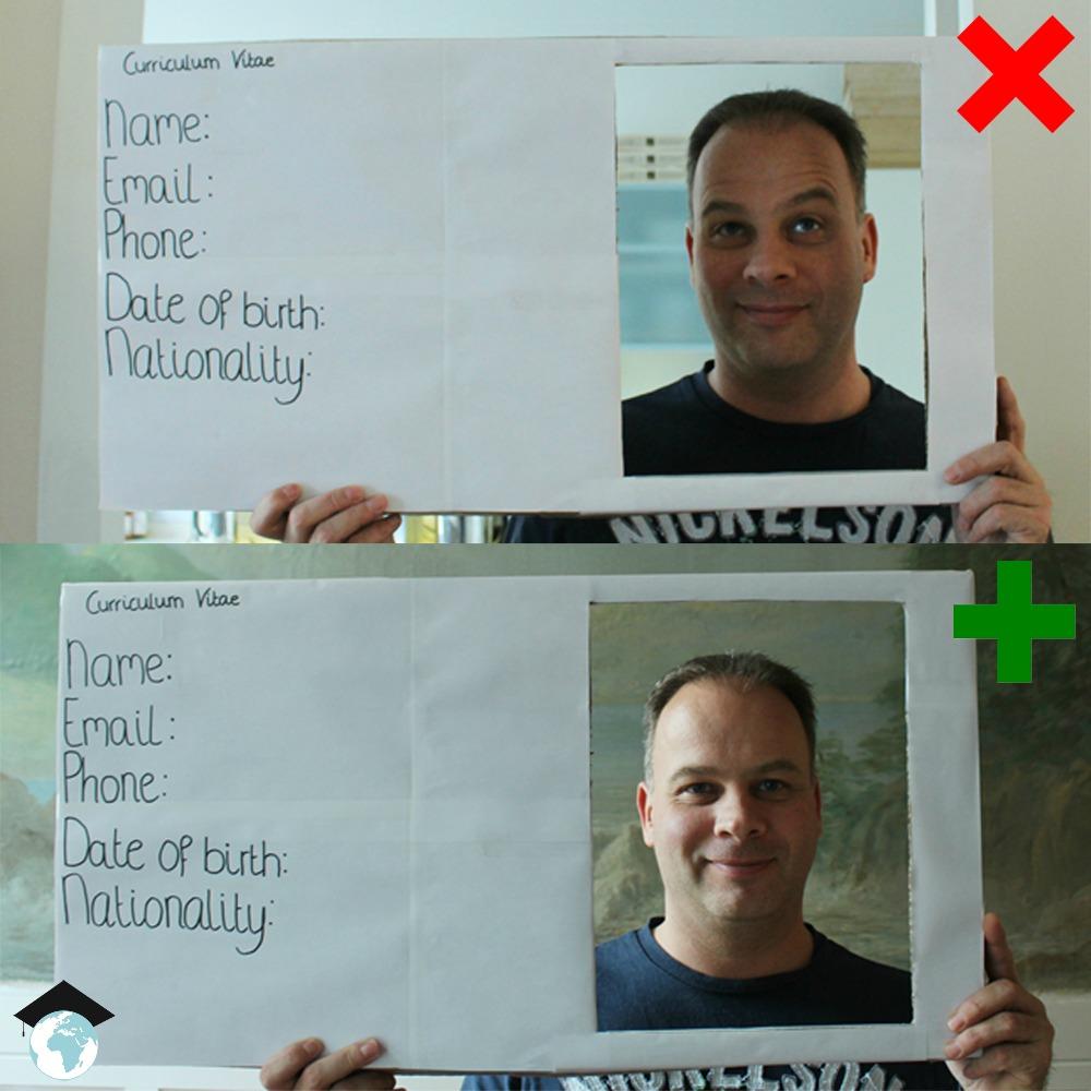 bad cv pictures versus good cv pictures