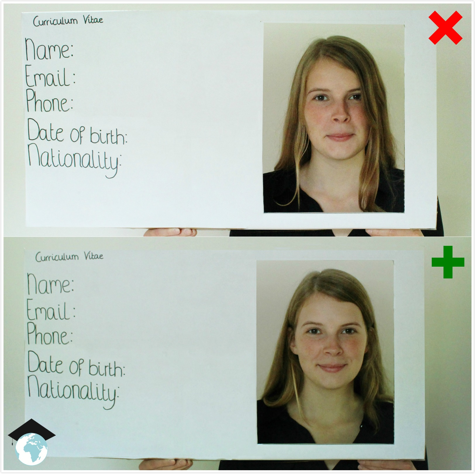 bad cv pictures versus good cv pictures